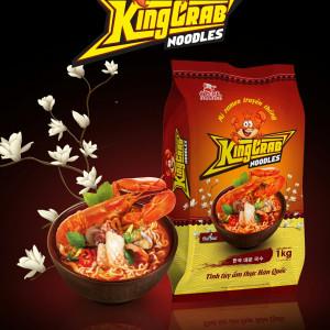 Mì Nấu Mì Cay KingCrab (Gói 12 Vắt Mì)